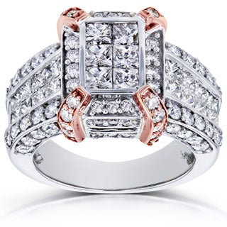 Annello by Kobelli 14k Two-tone Gold 3ct TDW Diamond Composite Ring (H-I, I1-I2)