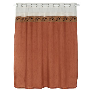 Windsor Home Dallas Embroidered Shower Curtain with Grommets
