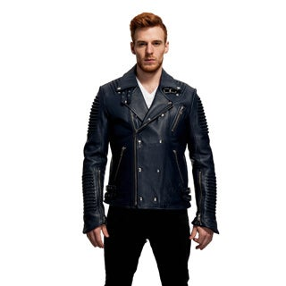 Mason & Cooper Men's The Empire Leather Moto Jacket (More options available)