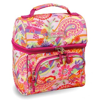 J World Pink Paisley Corey Lunch Bag