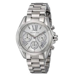 Michael Kors Women's Bradshaw Chronograph Silver Dial Stainless Steel Bracelet Watch MK6174