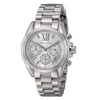 Michael Kors Women's Bradshaw Chronograph Silver Dial Stainless Steel Bracelet Watch