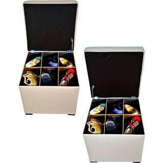 The Sole Secret Mini Square Upholstered Shoe Storage Ottoman