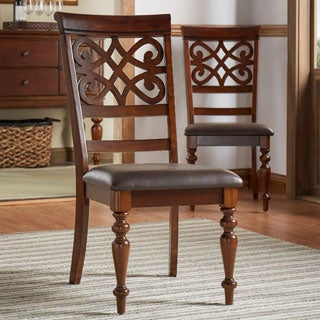 Emma Catherine Cherry Dining Chairs by TRIBECCA HOME (Set of 2)