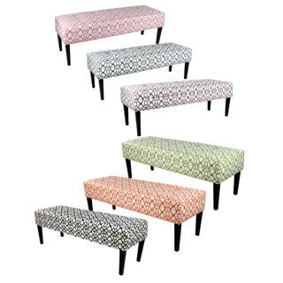 Kaya Noah Button Tufted Upholstered Long Bench