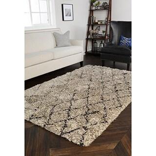 Kosas Home Gem Diamond Shag Rug (5' x 8')