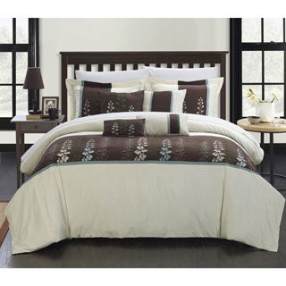 Chic Home Oversized Evania Embroidered Florals 8-piece Comforter Set