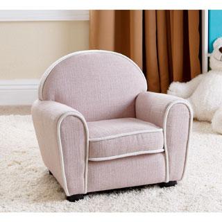 ABBYSON LIVING Kids Larsa Baby Pink Linen Armchair