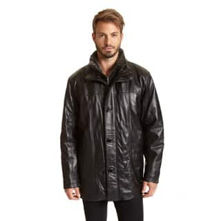 Excelled Men's Leather Car Coat (Big Sizes)|https://ak1.ostkcdn.com/images/products/P17527297p.jpg?impolicy=medium
