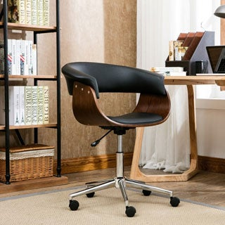 Porthos Home Liam Office Chair. Wood Home Office Furniture Store   Shop The Best Brands Today