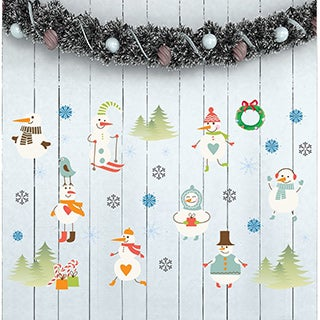 Snowmen Wall Decal Set