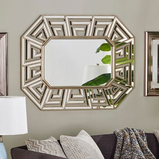Peyton Geometric Frame Accent Wall Mirror