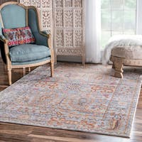 nuLOOM Traditional Vintage Fancy Floral Grey/Multi Rug - 9' x 12'