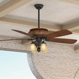 Casablanca 60-inch Heathridge Aged Steel Mountain Timber Wood 5-blade Ceiling Fan