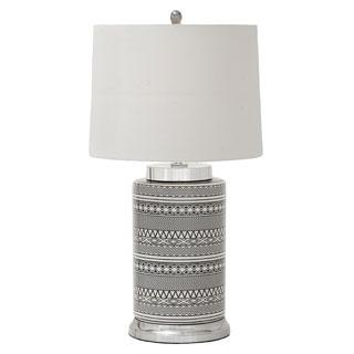 Geometric Patterns Tall Ceramic Table Lamp