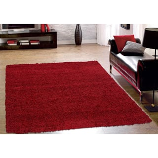 Sweet Home Cozy Shag Collection Solid Shag Rug (5' x 7')