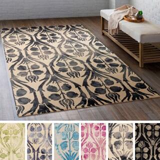 Hand-Hooked Rutland Floral Wool Rug (2' x 3')