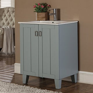 30-inch Grey Blue Finish Single Sink Bathroom Vanity