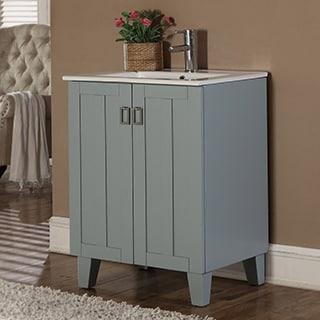 30-inch Grey Blue Finish Single Sink Bathroom Vanity