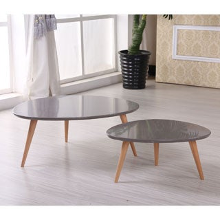White coffee tables coffee sofa end tables affordable for Furniture of america inomata geometric high gloss coffee table