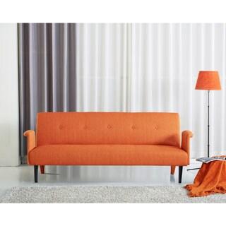 Sitswell Naomi Orange Futon Sofa Sleeper Bed