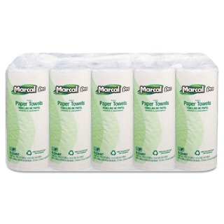 Marcal 100-percent Premium Recycled White Perforated Towels (70 Sheets/Roll, 15 Rolls/Carton)