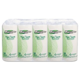 Marcal White 70 Sheets/Roll, 15 Rolls/Carton 100-percent Premium Recycled Perforated Towels
