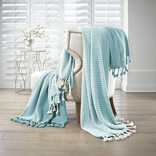 Amrapur Overseas 100-percent Cotton Monaco Throws (Set of 2)