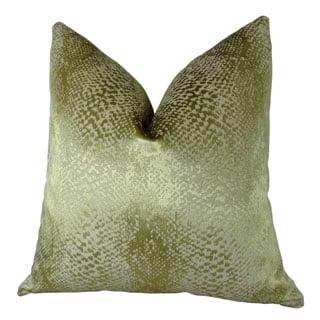 Plutus Hidden World Gold Handmade Double Sided Throw Pillow