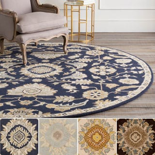 Hand-Tufted Wigton Floral Wool Rug (9'9 Round)