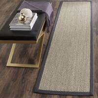 Safavieh Casual Natural Fiber Marble / Grey Sisal Area Rug (2' x 6')