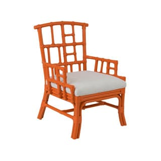 Pearland Contemporary Orange Painted Chair