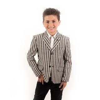 Elie Balleh Milano Italy Boys' Wide Stripe Blazer
