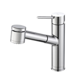KRAUS Oletto Single-Handle Kitchen Faucet with Pull Out Dual-Function Sprayer