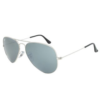 Ray-Ban Men's RB3025 Silver Metal Pilot Sunglasses