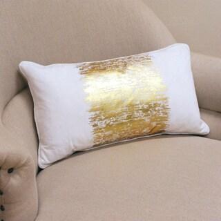 Metallic Banded Design Pillow