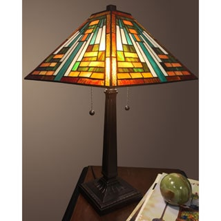 Zilpa 2-light Multi-color Tiffany-style 14-inch Table Lamp