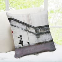 'There Is Always Hope' London Banksy Throw Pillow