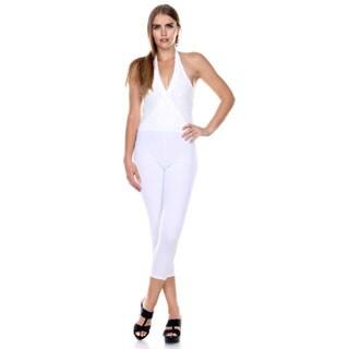 Stanzino Women's Lace Halter Jumpsuit