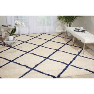 Nourison Brisbane Shag Ivory Blue Rug (8'2 x 10')|https://ak1.ostkcdn.com/images/products/P17582072a.jpg?impolicy=medium