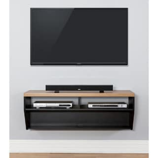 Arced 48-inch Wall Mount TV Console