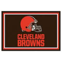 Fanmats Cleveland Browns Brown Nylon Area Rug (5' x 8')