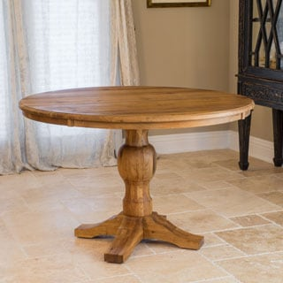 Christopher Knight Home Bernie Oak Wood Circular Dining Table (ONLY)