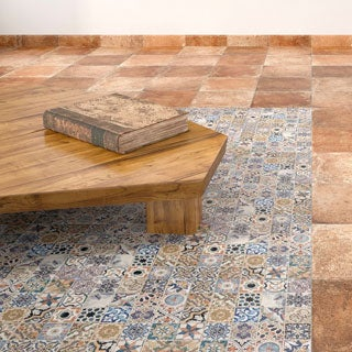 SomerTile 12.5x12.5-inch Azorin Cotto Ceramic Floor and Wall Tile (Case of 16)
