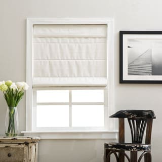 Arlo Blinds Ivory Cordless Fabric Roman Blackout Shade