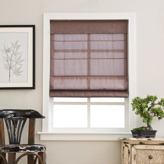 Espresso Cordless Fabric Roman Light Filtering Shade