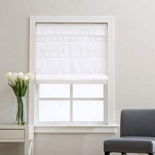 Arlo Blinds Cloud White Cordless Fabric Roman Light Filtering Shade