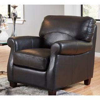 Lazzaro Leather Carlisle Black Chair