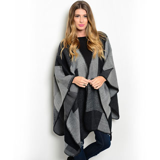 Shop the Trends Women's Blanket Poncho Wrap