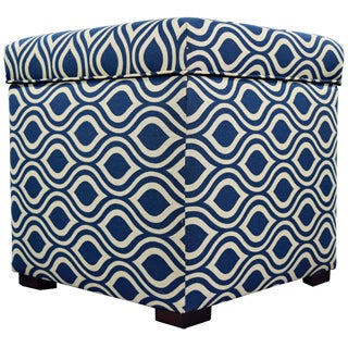 The Sole Secret Mini Square Nicole Upholstered Shoe Storage Ottoman